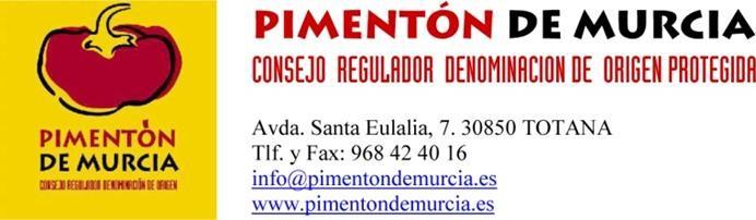 Cabecera Consejo Regulador DOP Pimentón de Murcia
